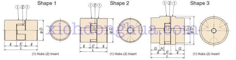 thông số kĩ thuật khớp nối L CL 800x206 - CL
